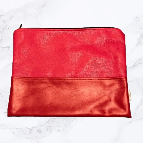 Madison Elizabeth Co. Handbags - Hot Pink & Red Portfolio Clutch